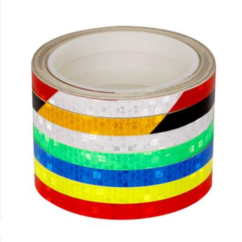 Reflective tape stickers Warning Tape Safety Marking Color Strip <font><b>car</b></font> body stickers for diy motorcycle Mountain Bike Accessories image