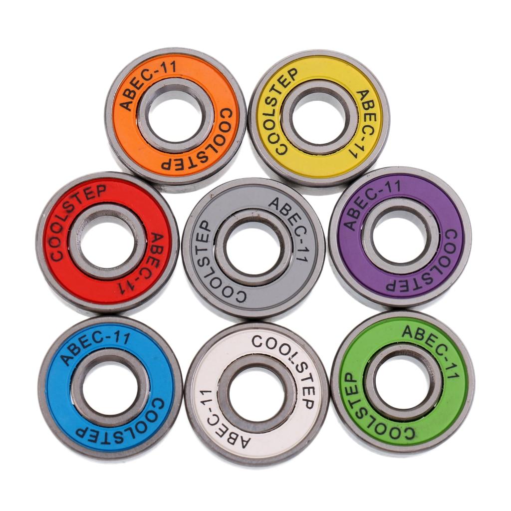 8pcs Skateboard Bearings Durable Longboard Bearings Scooter Bearings ABEC-11