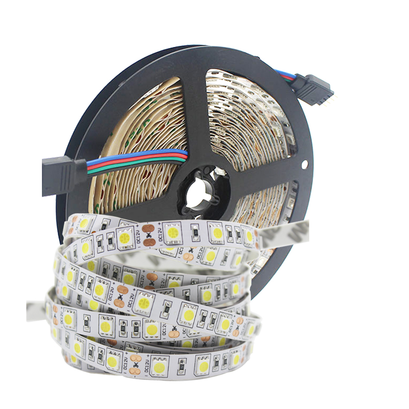 Водонепроницаемая/без светодиодсветильник ленты, 5 м, IP65, 5050 SMD, 12 В постоянного тока, 60 светодиодов/м, 2835 бар, гибкая светодиодная лента, лента, лампа для украшения дома