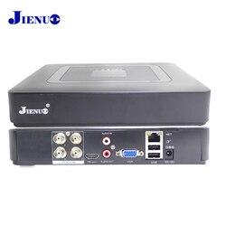 JIENUO 4CH Мини DVR AHD 1080N CCTV HD рекордер Система видеонаблюдения гибридная Onvif для ip-камеры аналоговый AHD CVI TVI