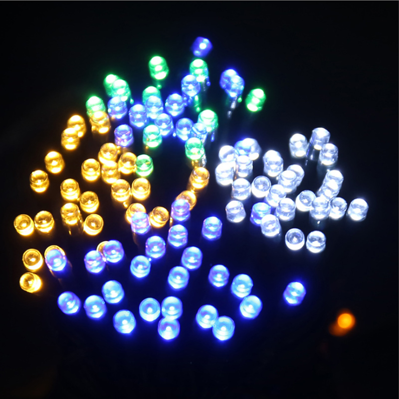 50/100/200 Led Solar Fairy Lights Outdoor Waterproof Street Garland Houses Christmas Garden Decorations String Light Strip Chain