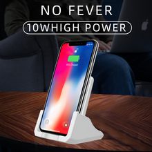 10W Qi Wireless Charger Stand For iPhone 11 Pro X XS Max XR 8 Samsung S20 S10 Note 10 9 Fast Charging Dock Station Phone Holder 15w qi wireless charger stand for iphone 11 pro 8 x xs samsung s10 s9 s8 fast wireless charging station phone charger