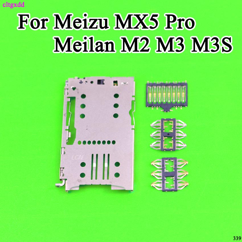 1 Set Total 4PCS For <font><b>Meizu</b></font> MX5Pro MX5 pro M3 <font><b>Note</b></font> Meilan matel <font><b>M2</b></font> M3 M3S <font><b>Sim</b></font> Card <font><b>Tray</b></font> Reader Module Slot Holder Connector image