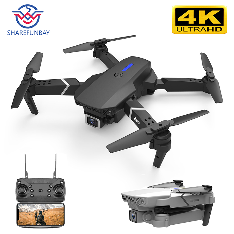 SHAREFUNBAY E525 Drone 4k HD Wide-angle Dual Camera 1080P WIFI Visual Positioning Height Keep Rc Drone Follow Me Rc Quadcopter