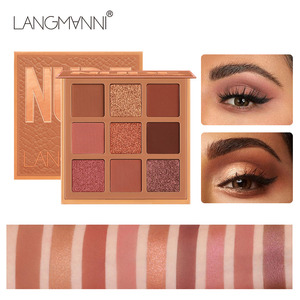 9 Colors Nude Eyeshadow Powder Makeup Palette Matte Shimmer Eye Pigmented Powder Make Up New Warm Earth Color Eyeshadow(China)