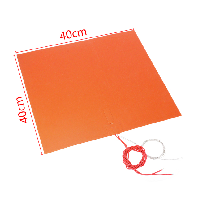 220V 1400W 3D Silicone Heated Bed Heating Pad w Thermistor for 3D Printer Parts Electric Heating Pads 400*400mm 1.5MM 1