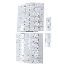 50 pces 3v smd contas de luz com lente óptica fliter para reparação tv led tira luz parte acessórios