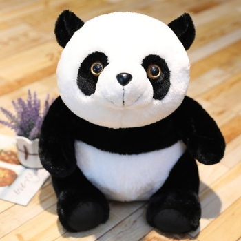 Hot 30cm-60cm Vivid Rabbit Hair Panda Plush Toys Soft Cartoon Animal Black and White Stuffed Doll Home Decor Pillow Kids Gifts vivid hair 9 grade180%