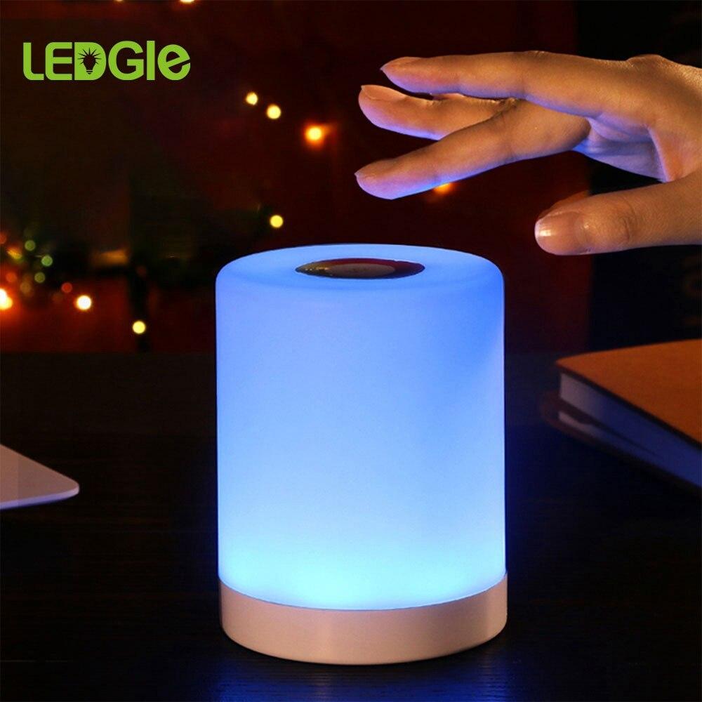 USB 스마트 침대 옆 램프 LED 테이블 램프 Nightlight 크리 에이 티브 침대 책상 조명 침실 bedside Lampe 스마트 침대 야간 조명 선물