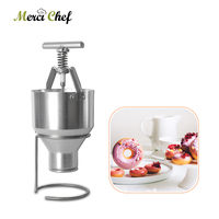 ITOP Mini 2.5L Donut Maker Donut Mould Snack Machine Stainless Steel Waffle Dispenser Food Processor Adjustable Size