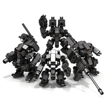 8CM Mecha Fighting Warfare Soldier Robots Model Assembly Small Particle Building Blocks Educational Toys For Children Bricks