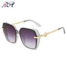 New Retro Big Frame Sunglasses Female Frame Sunglasses Europ