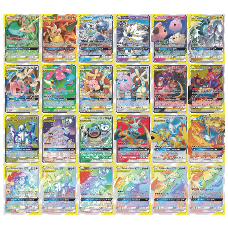 300 Pcs Pokemoning French Cards TAG TEAM GX MEGA Shining Card Game Battle Carte Trading Game Children Carte Francaise Toy