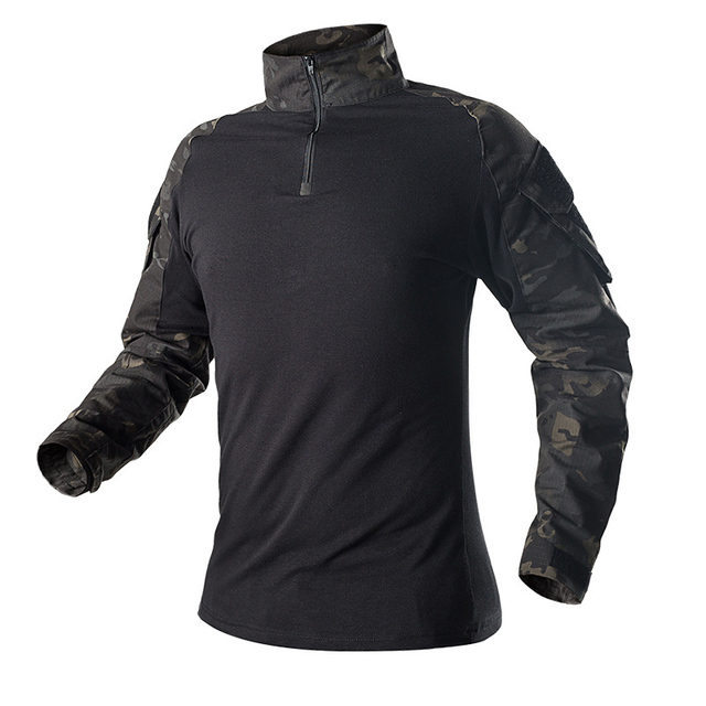 Camouflage Combat Shirt Pants Suit Military Tactical Uniform US Army BDU Multicam Black Men Airsoft Sniper Camo Hunting Clothes 5