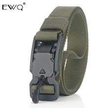 EWQ / 2.5CM new trend nylon belt casual men's belt tactical plastic magnet function buckle trousers wholesale 9Y403