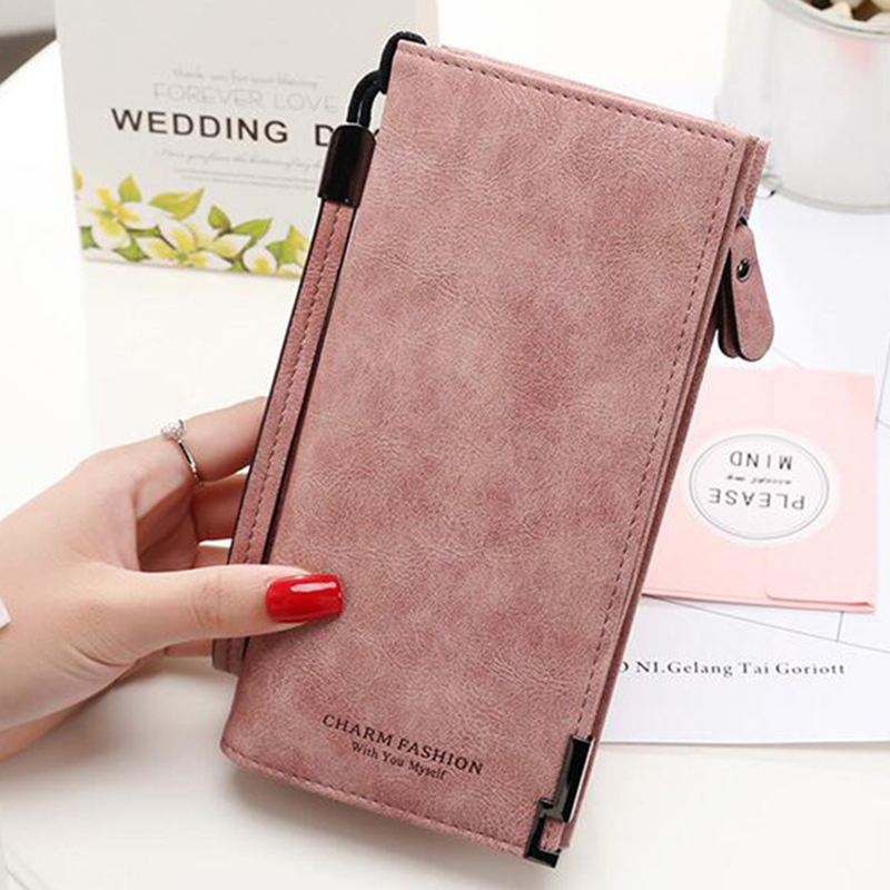 Women Wallets Fashion Lady Wristlet Handbags Long Money Bag Zipper Coin Purse Cards ID Holder Clutch Woman Wallet Burse