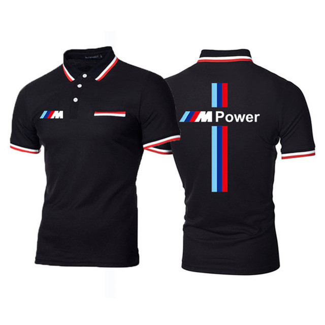 New Summer Men Brand Clothing printing BMW M Men Business fashion Casual Male Polo Shirt Short Sleeve Breathable Soft Polo Shirt 2