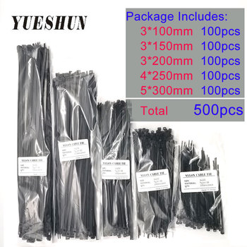 wholesale Nylon Cable Ties 100mm 150mm 200mm 250mm 300mm Black White Self Locking cable Wire Zip Ties 100pcs white self locking cable tie high quality nylon fasten zip wire wrap strap 2 5x100mm 2 5x150mm plastic