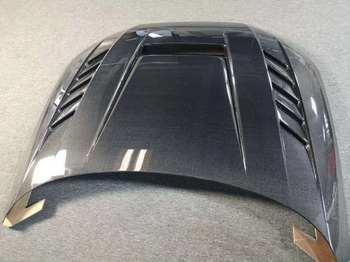 Carbon Fiber Clear Glass Front Bumper Engine Hood Vent Cover Fits For AUDI A3 S3 RS3 A4 S4 RS4 A5 S5 RS5  A6 S6 RS6 A7 S7 RS7
