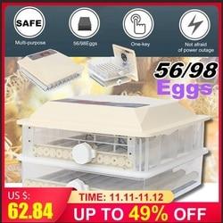 Schlüpfen-Maschine Ei-Inkubator Große Kapazität Mini Inkubator Huhn Geflügel Wachtel Türkei Eier Automatische Ei-Drehen Hause
