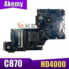 Материнская плата AKEMY H000046310 для ноутбука Toshiba Satellite C870 C875 L870, 17,3 дюйма, HD4000 HM76 DDR3, полный тест