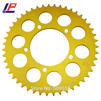 LOPOR Chain 520 47T Motorcycle Rear Sprocket  With Gold Color For BMW 650 Xmoto  2007 2008 07-08 New
