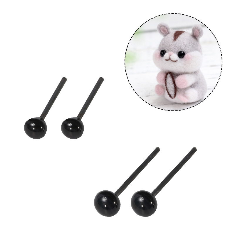 MIUSIE 50pcs/Bag Glass Eyes 2mm/3mm/4mm Needle Felting Animals Bears Rabbit Dog Dolls Animal Eyes For DIY Dolls Toy Accessories