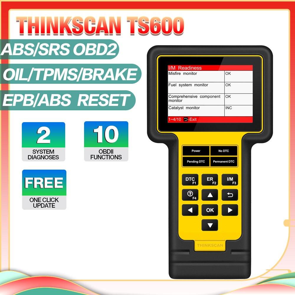 Thinkcar ThinkScan meslek teşhis OBDII tarama EPB SAS DPF yağ SRS sıfırlama teşhis aracı OBD2 fonksiyonu PK lansmanı CR619 AL6