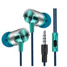 Fones de ouvido universal 3.5mm in-ear fones de ouvido estéreo microfone embutido fone de ouvido com fio para iphone samsung xiaomi huawei smartphones