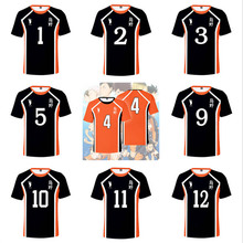3D T-Shirt Volleyball-Tops Anime Haikyuu Hinata No Costume Karasuno Kageyama Tobio Cosplay