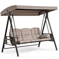 1PC Three person Outdoor Swing Basket Wicker Chair Outdoor Courtyard Garden Rocking Chair Swing Balcony Iron Swing Chair