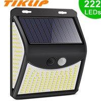 222 LED Solar Licht 4 Modi Wasserdicht Outdoor Straße Für Garten Dekoration Sonnenlicht Angetrieben Solar Wand Lampe mit Motion Sensor