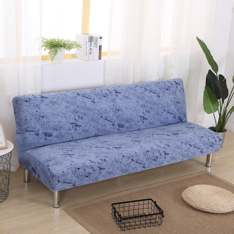 Splash Ink Printed Sofa Cover Without Armrest For Living Room Armless Folding Stretch Elastic Sofa Bed Fundas De Sofa Cases|Sofa Cover| - AliExpress