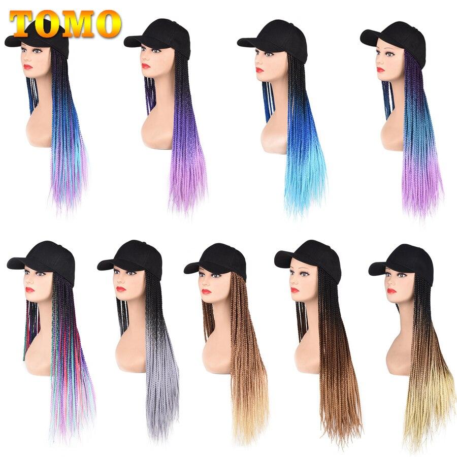 ombre cor sintetica caixa trancada cabelo chapeu 05