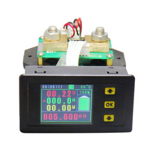Dc 120V 500A Lcd Combo Meter Spanning Kwh Watt Meter 12V 24V 48V 96V batterij Capaciteit Power Monitoring(China)