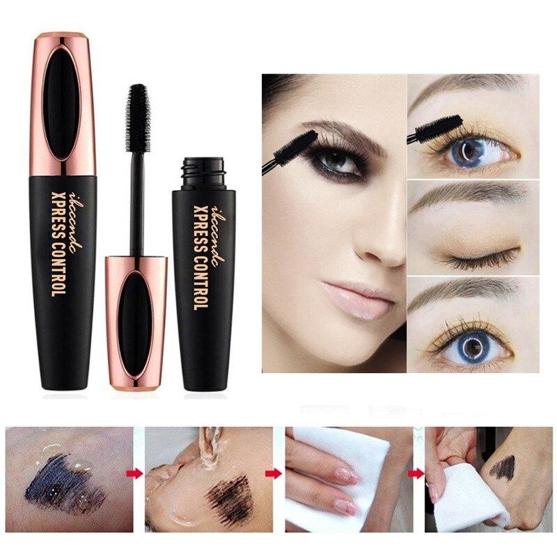 Waterproof 4D Silk Fiber Lashes Mascara Natural Thick Lengthening Easy To Dry Eyelash Extension Eye Lashes Makeup Cosmetics