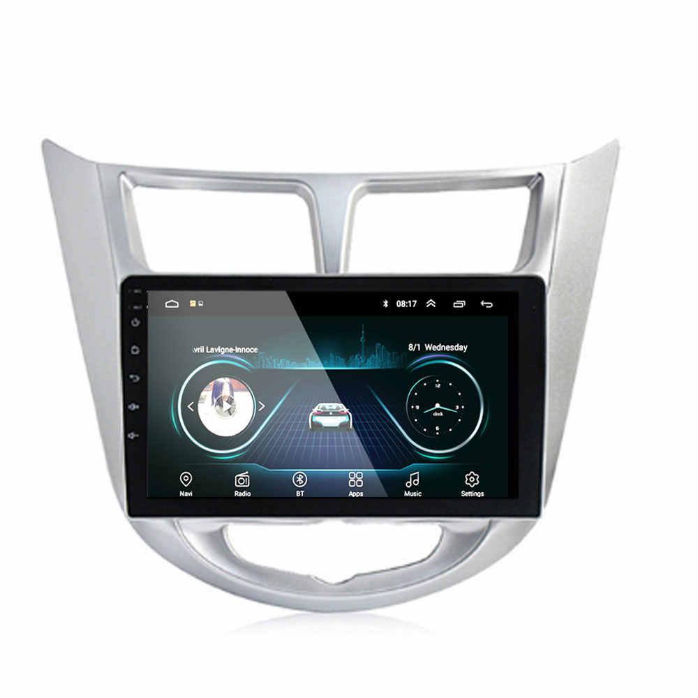 9''2 din Android 8.1 araba DVD OYNATICI Hyundai Solaris accent Verna 2011 için-2016 radyo kaydedici Gps WIFI usb ses