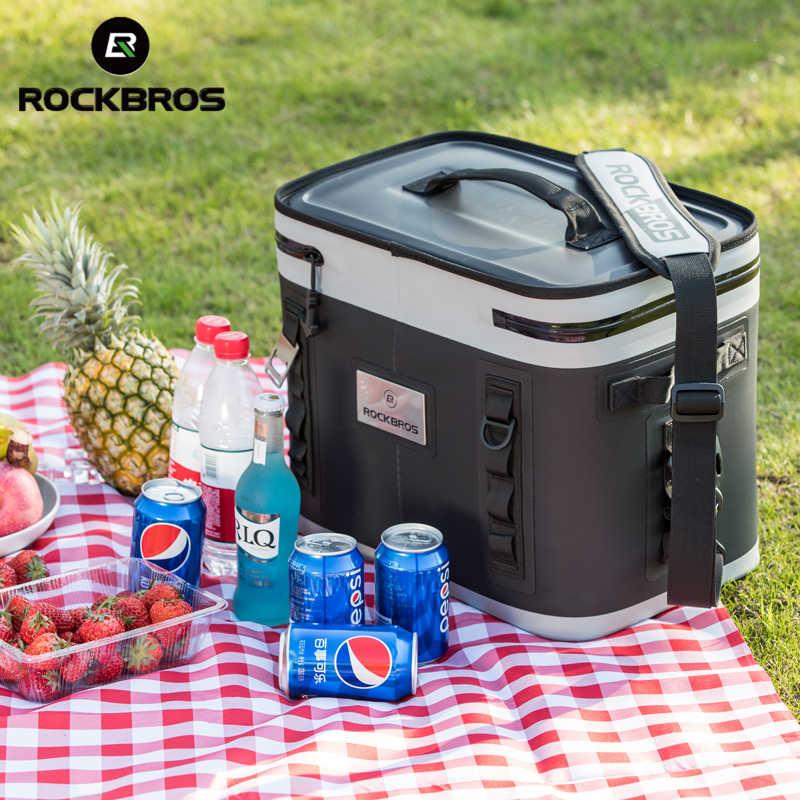 Rockbros 22L Outdoor Picknick Koeler Picknickmand Multifunctionele Grote Capaciteit Duurzaam Waterdicht Wandelen Camping Zak Koelbox