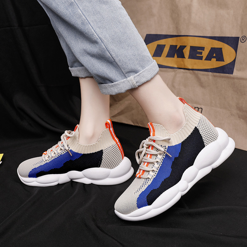 YeddaMavis Shoes Blue Daddy Shoes Women Shoes Women Sneakers Korean Wild Lace Up Womens Shoes Woman Trainers Zapatos De Mujer in Women 39 s Vulcanize Shoes from Shoes
