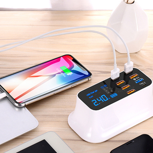 Image 5 - Quick Charge 3.0 Smart USB Type C Charger Phone USB Charger Fast Charging Desktop Socket Adapter Station Led Display For iphone