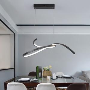 Modern Led pendant lights for dining kitchen room bar restanturant Matte Black/White 90-260V Pendant lamp Fixtures Free shipping(China)