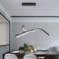 Modern Led pendant lights for dining kitchen room bar restanturant Matte Black/White 90 260V Pendant lamp Fixtures Free shipping