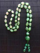 Wholesale natural Alashan Gobi stone agate  green necklace accessories