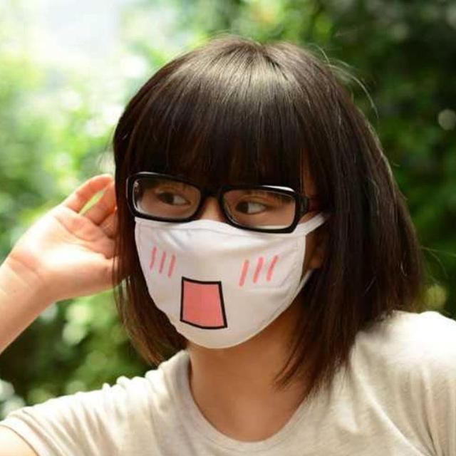 White Comfortable Cotton Cute Bear Anime Cartoon Mouth Mask Kpop teeth mouth Muffle Face Mouth For Wedding Party Masks Women Men 1