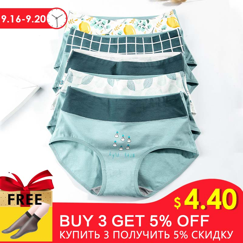 Cotton   Panties   Seamless Briefs Young Girl Comfort Child Underwear Set Sweet Design Women High Waist Underpants 3pcs/lot XXL #D