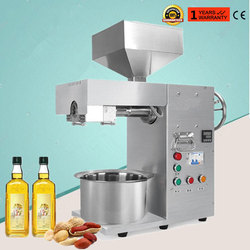 Automatic oil press machine commercial stainless steel oil extractor for coconut almond flaxseed peanut oil presser 220V 50/60Hz