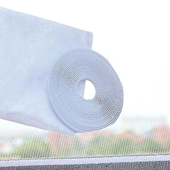 1 sztuk nowe białe drzwi i okna gaza ekrany przeciw komarom DIY ekrany przeciw komarom Anti-Fly owady zasłony na okna z taśmą tanie i dobre opinie CN (pochodzenie) Okno Hook Loop Zapięcie Door Window Screens White 150cm x 130cm Polyester Support Wholesale Support Retail