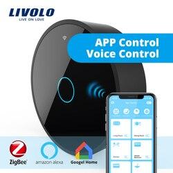 Nueva Serie Livolo, puerta de enlace ZigBee móvil inteligente, controlador de WiFi inteligente por SmartPhone, google home, alexa, echo, funciona con interruptor inteligente