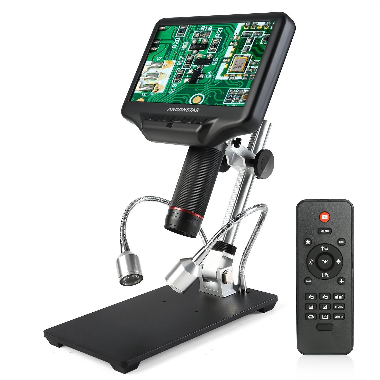 Image 2 - Andonstar 3D цифровой/HDMI микроскоп с 7 дюймов ЖК дисплей для мобильного телефона ремонт паяльный инструмент + регулируемое большое поле обзора:-in Микроскопы from Инструменты on AliExpress
