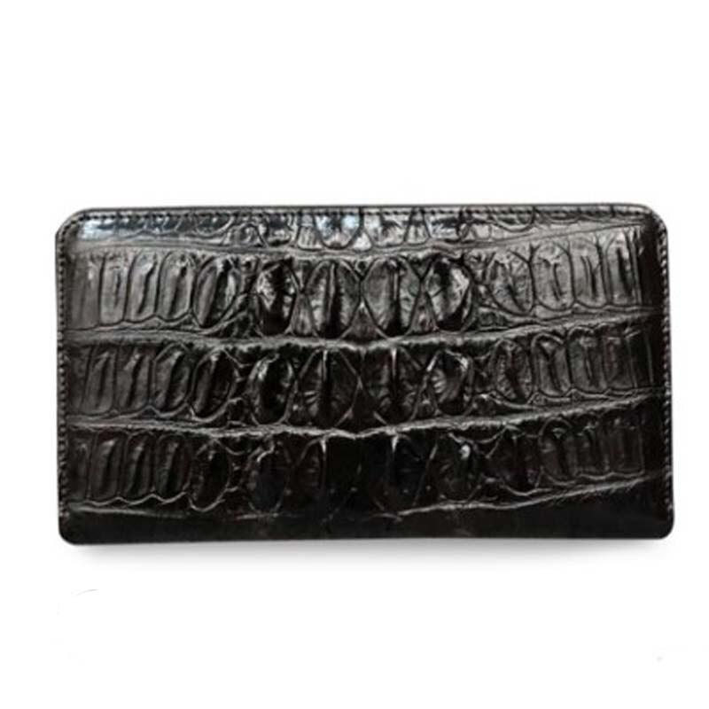 XHPJ crocodile The wallet male long handbags Genuine leather business zipper More screens Leather bag men Hand bag men clutch